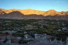 Sunset at leh city ladakh j&k india