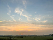 Sunset in Leidschendam. Sunset in Leidschendam in the Netherlands Royalty Free Stock Image