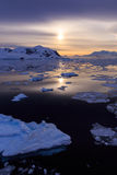 Sunset at Lemaire Channel, Antarctica Stock Photos