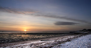 Sunset at Lepe Country Park Royalty Free Stock Photos