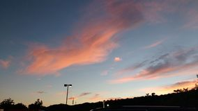 Sunset in Lewisburg Wv. Pretty in pink & blue stock image