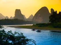 Sunset at Li River Royalty Free Stock Image
