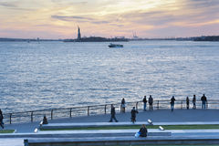 Sunset Liberty Statue New York City Royalty Free Stock Photo