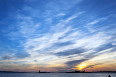 Sunset Liberty Statue New York City Royalty Free Stock Images