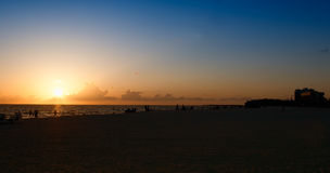 Sunset on Lido Beach in Sarasota, Florida Stock Photo