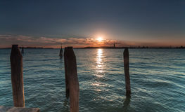Sunset at Lido di Venezia Royalty Free Stock Photo