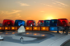 Sunset light bar Royalty Free Stock Photo
