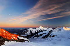 Sunset light in Berner Oberland Royalty Free Stock Photography