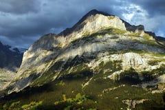 Sunset light in Berner Oberland Royalty Free Stock Images