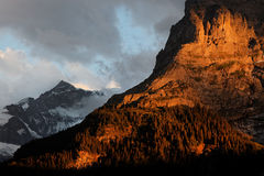 Sunset light in Berner Oberland Royalty Free Stock Image