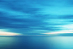 Sunset in light blue Stock Photo
