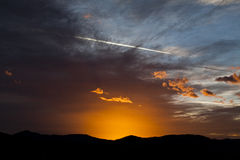 Sunset light at dawn Royalty Free Stock Image