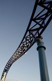 Sunset  light on elements of a roller coaster Royalty Free Stock Photography