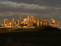 Sunset light on industrie plant Stock Photography