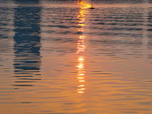 The sunset light on the lake Royalty Free Stock Photo