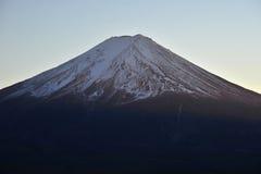 Sunset light on mount fuji Stock Images