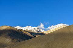 The Sunset light on the mountain at Ladakh India Royalty Free Stock Images