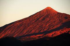 Sunset light over Teide National Park Stock Photography