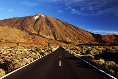 Sunset light over Teide National Park Royalty Free Stock Image