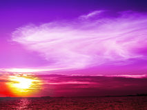 Sunset and light purple tone in evening Royalty Free Stock Image