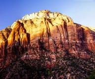 Sunset light on The Watchman Stock Photo