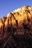 Sunset light on The Watchman Stock Photos