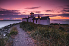 Sunset Lighthouse Stock Image