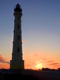 Sunset at lighthouse Royalty Free Stock Photography