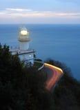 Sunset and Lighthouse in Igueldo, Donostia. stock photos