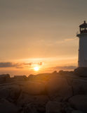 Sunset at the Lighthouse Royalty Free Stock Images