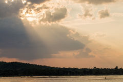 Sunset lighting Stock Image