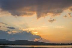 Sunset lighting Royalty Free Stock Image