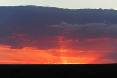 Sunset in Lightning Ridge Stock Images