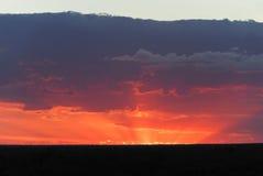 Sunset in Lightning Ridge Stock Images
