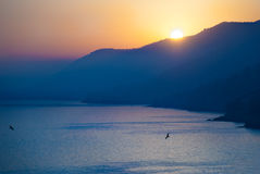 Sunset in Liguria, Italy Royalty Free Stock Image