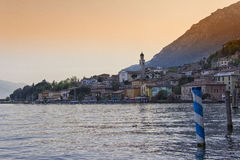 Sunset at Limone sul Garda Stock Photo