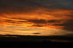 Sunset Lincolnshire Stock Photos