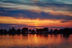 Sunset in Lindau. Bavaria, Germany Royalty Free Stock Photos
