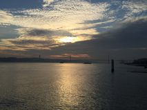 Sunset at Lisbon Stock Images