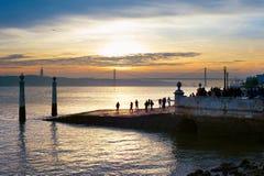Sunset in Lisbon, Portugal Stock Photo