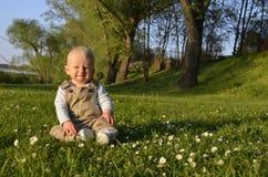 Sunset for little boy Stock Images