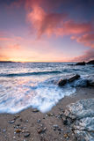 Sunset at Little Fistral Beach Stock Image