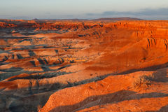 Sunset at Little Painted Desert, Arizona Royalty Free Stock Images
