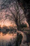 Sunset of Little Venice in Regent's Canal, London Royalty Free Stock Photo