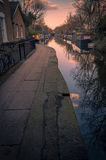 Sunset of Little Venice in Regent's Canal, London Royalty Free Stock Photography