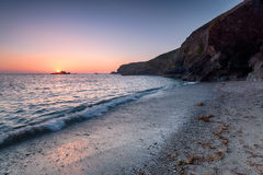 Sunset on the Lizard in Cornwall Royalty Free Stock Image
