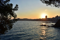 Sunset. In Lloret de MAr Royalty Free Stock Photography