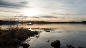 Sunset at the loch Stock Photos