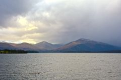 Sunset at Loch Lomond Stock Images