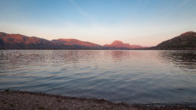Sunset on Loch Maree Stock Images